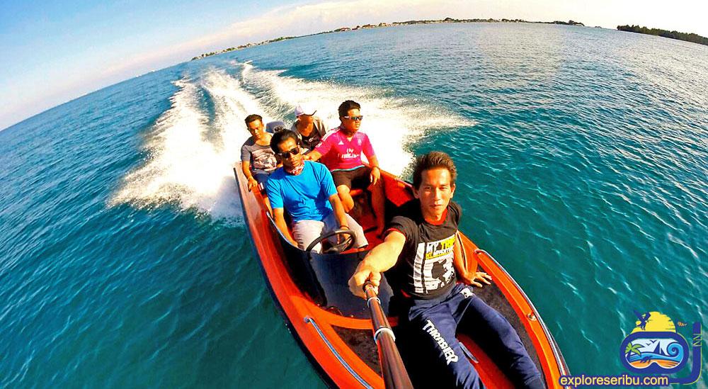 sewa speed boat dan perahu jelajah di pulau harapan