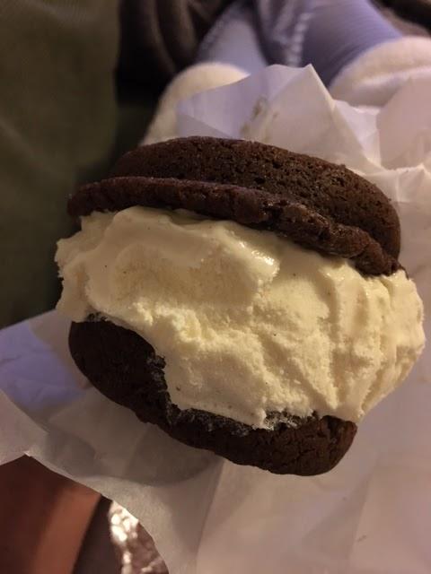 Dorinda's Chocolates homemade ice cream sandwich