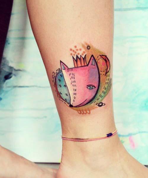 ankle tattoo tumblr ayak bileği dövmesi