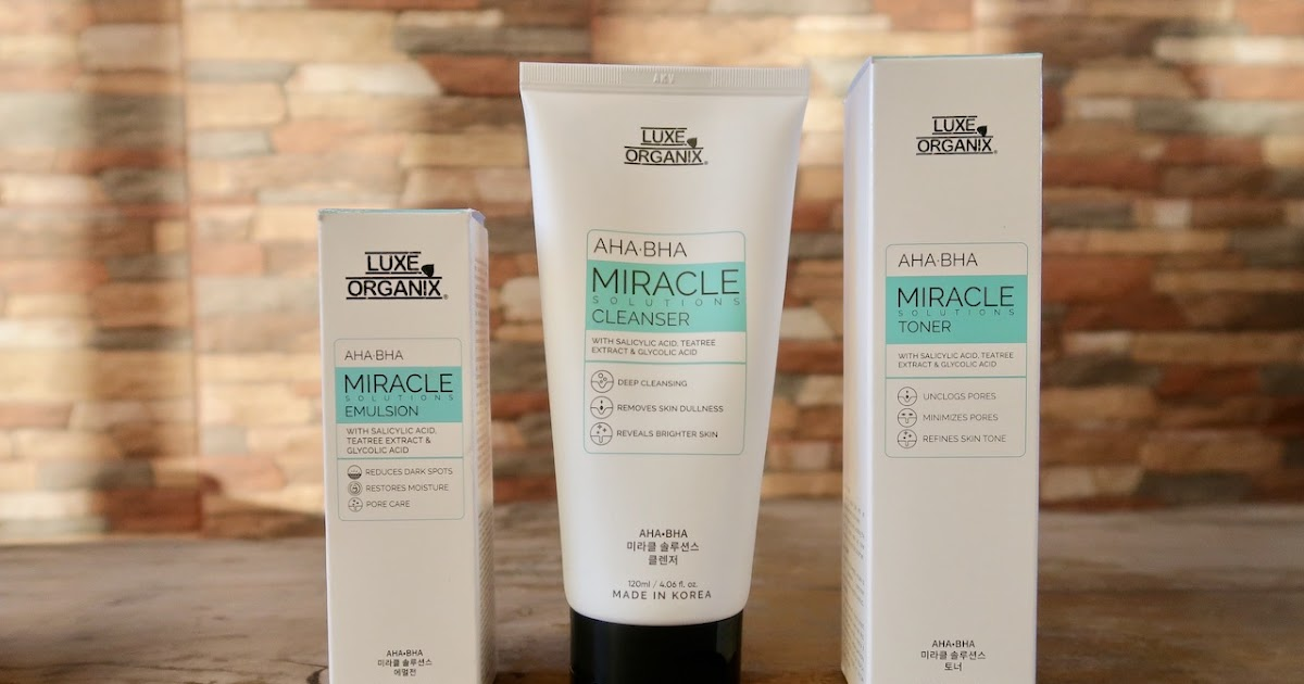 Luxe Organix Aha Bha Miracle Solutions Skin Care Review Great For