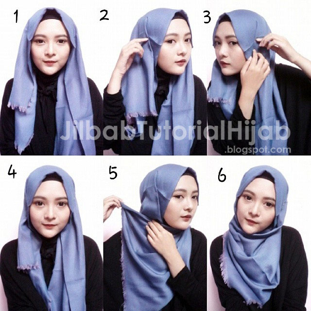 Tutorial Hijab Segi Empat Simple Jilbab Tutorial Hijab