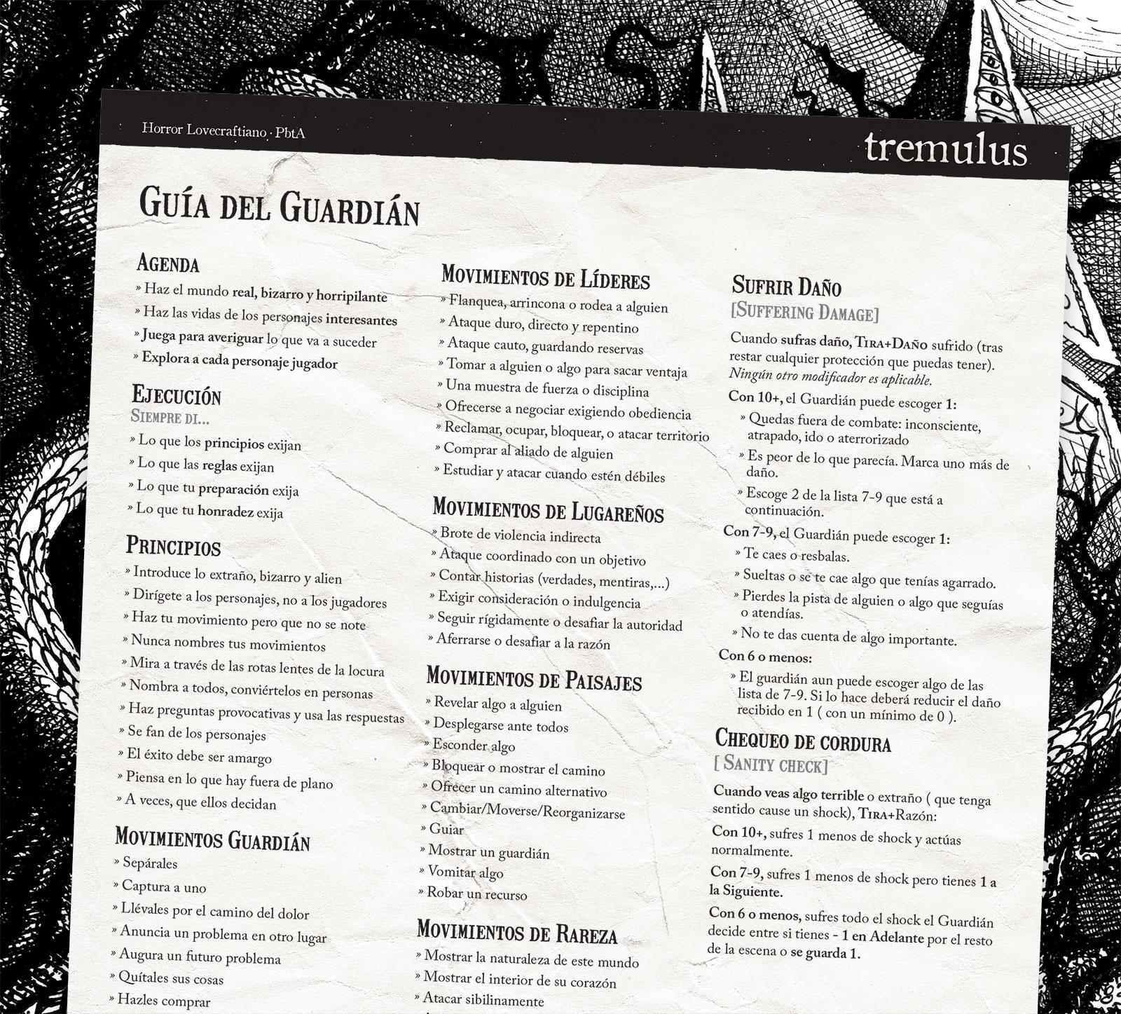 Descargar Hoja de referencia tremulus español| Mega
