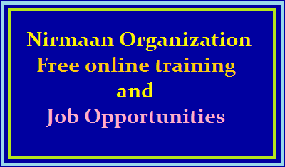 Nirmaan Organization:Free software online training and Placements