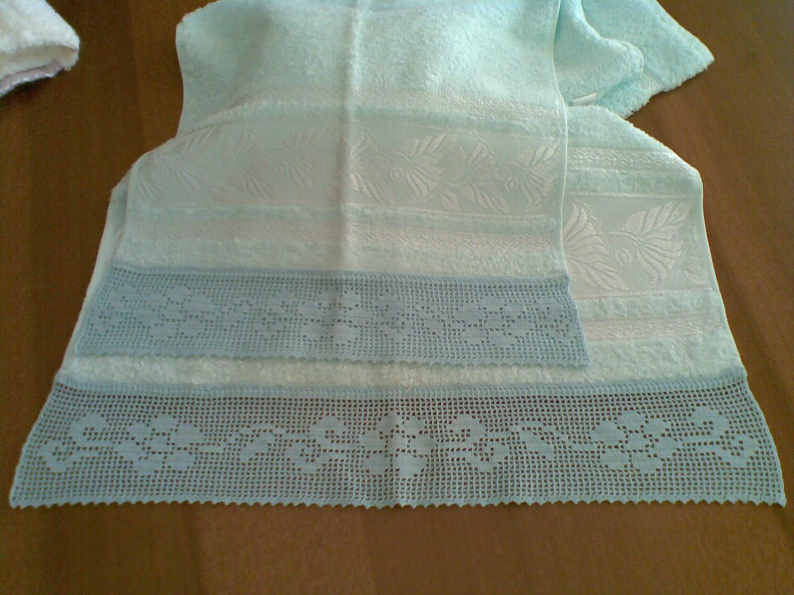 Le Creazioni Di Maria Zuccarello Bordure Alluncinetto Per Asciugamani