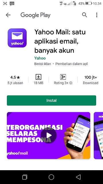Install Aplikasi Yahoo