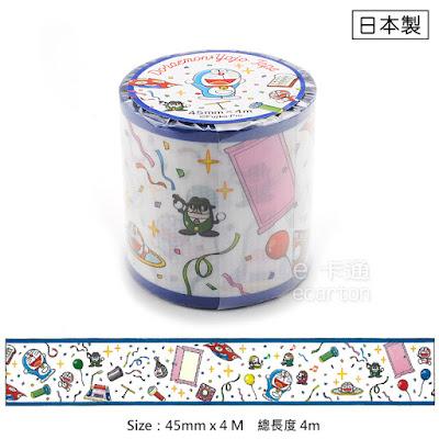 日本製哆啦a夢50周年商品_哆啦A夢小叮噹防潑水紙膠帶