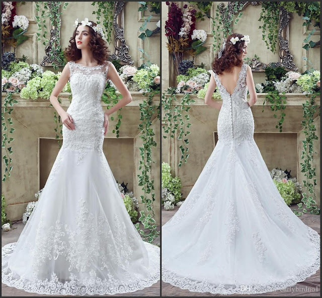 Wedding Dresses of Sheer Beauty
