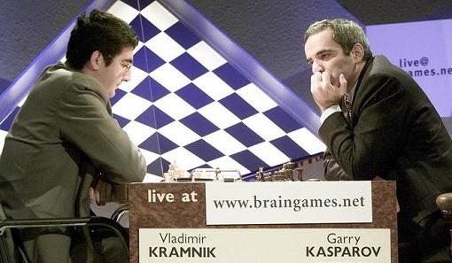 Grand maître international du jeu d'échecs, Vladimir Kramnik est devenu le 14ème champion du monde d'échecs de 2000 à 2007, en battant Garry Kasparov à Londres en 2000