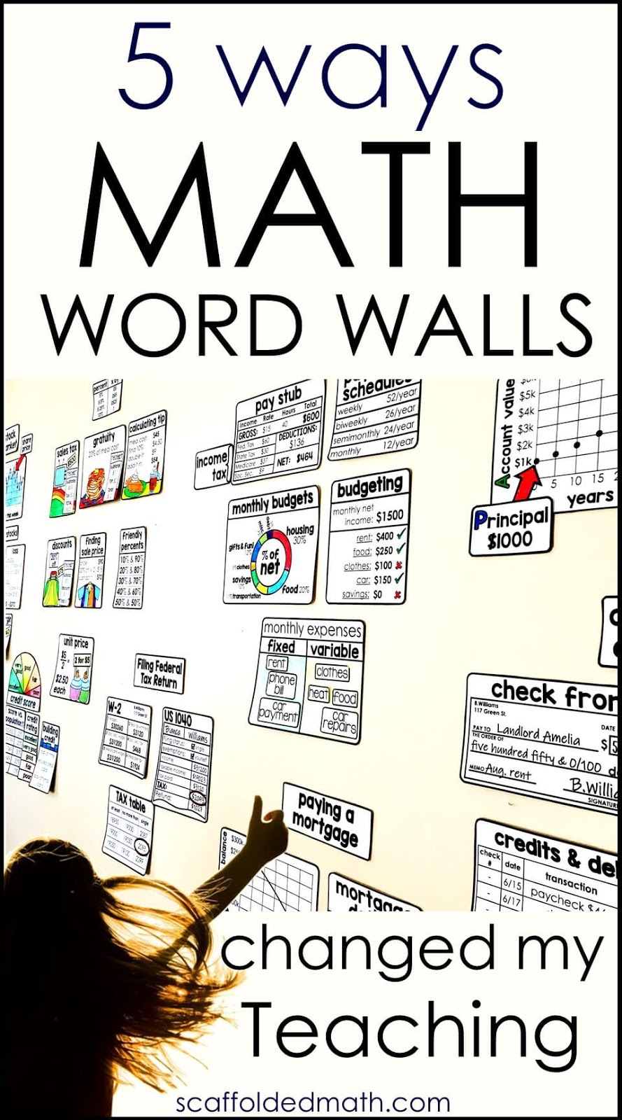 Scaffolded Math and Science: 5 Ways Math Word Walls Have