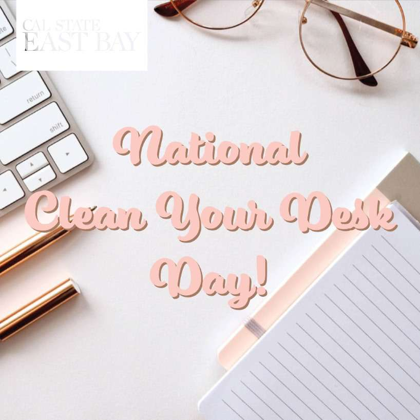 National Clean Your Desk Day Wishes Awesome Picture
