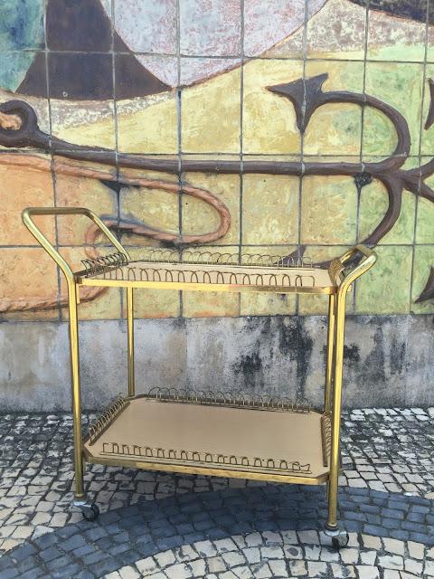 vintage, carrinho de chá, decoração vintage, móveis vintage