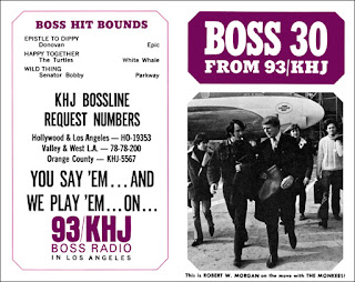KHJ Boss 30 No. 81 - Robert W. Morgan with The Monkees