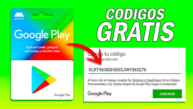 Consigue CÓDIGOS para Google Play GRATIS