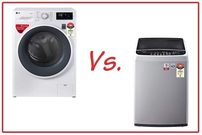 LG FHT1006ZNW (left) and LG T65SNSF1Z (right) Washing Machine Comparison.