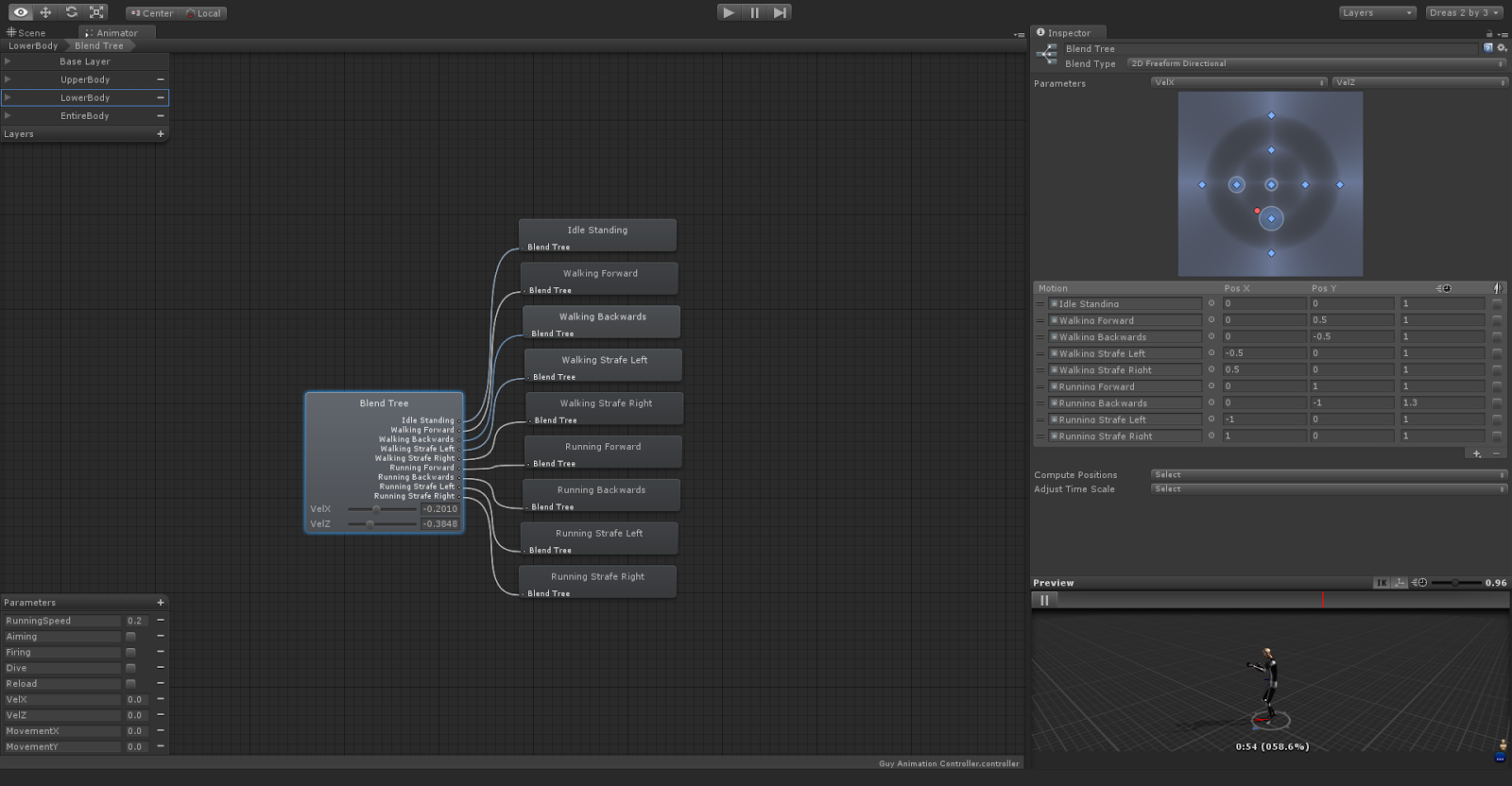 Andreas Grech's Blog: A 2D Freeform Directional Blend Tree