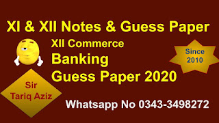 2nd year Banking Guess Paper & Important Short Questions 2020