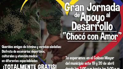 Jornada de apoyo por el desarrollo de Istmina realizará el Ejército Nacional en Semana Santa