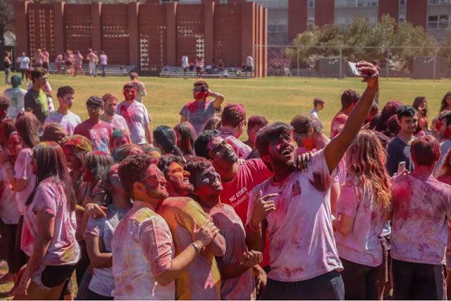 Holi Celebration in College