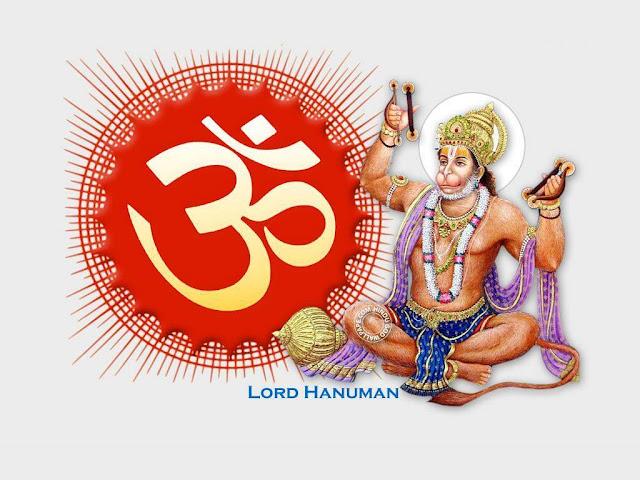 Lord Hanuman With Om Wallpaper
