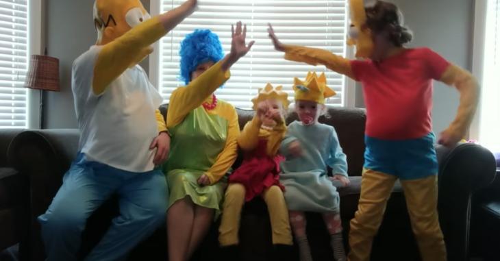 Familia en cuarentena recrea el intro de Los Simpson y es casi igual al original