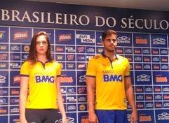 A Olympikus apresentou o terceiro uniforme do Cruzeiro para a temporada  2014. Em alusão à seleção brasileira 6c999741cb2c0