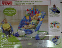 2 Fisher Price Deluxe Infant to Toddler Comfort Rocker