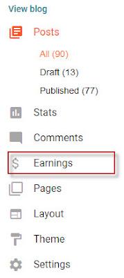 menambahkan url blog di akun adsense