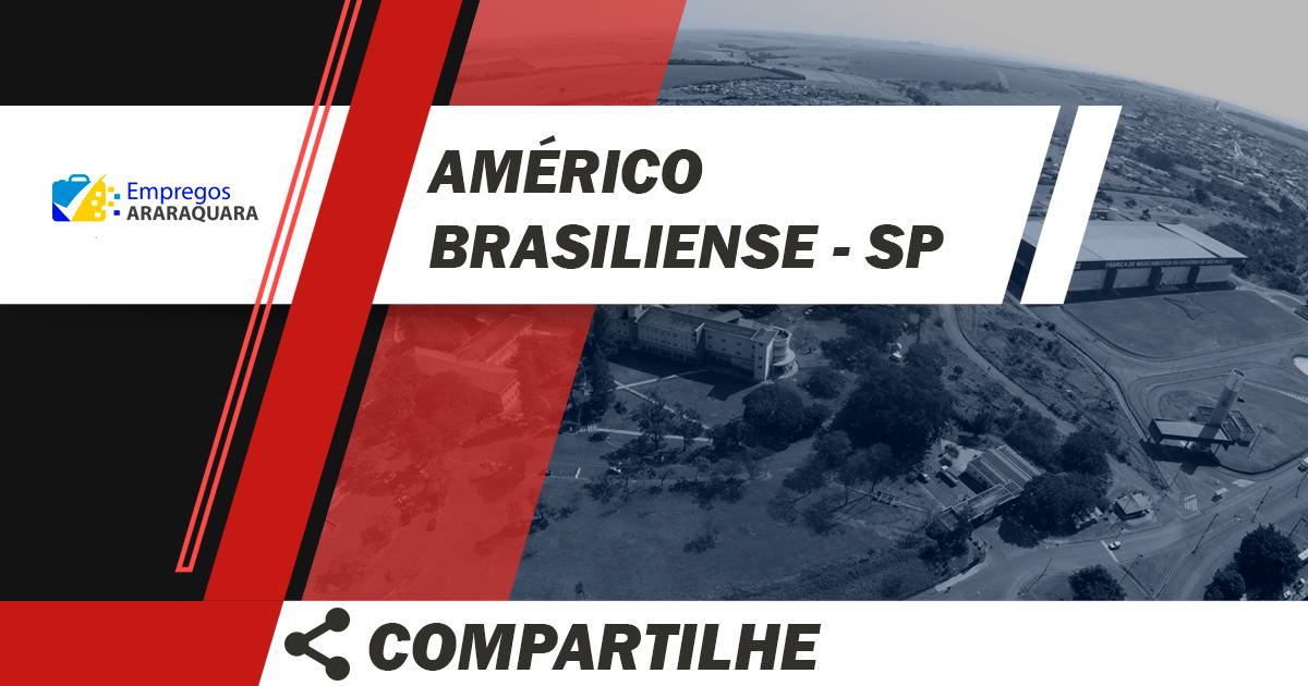 Vendedor Externo / Américo Brasiliense / Cód.5680