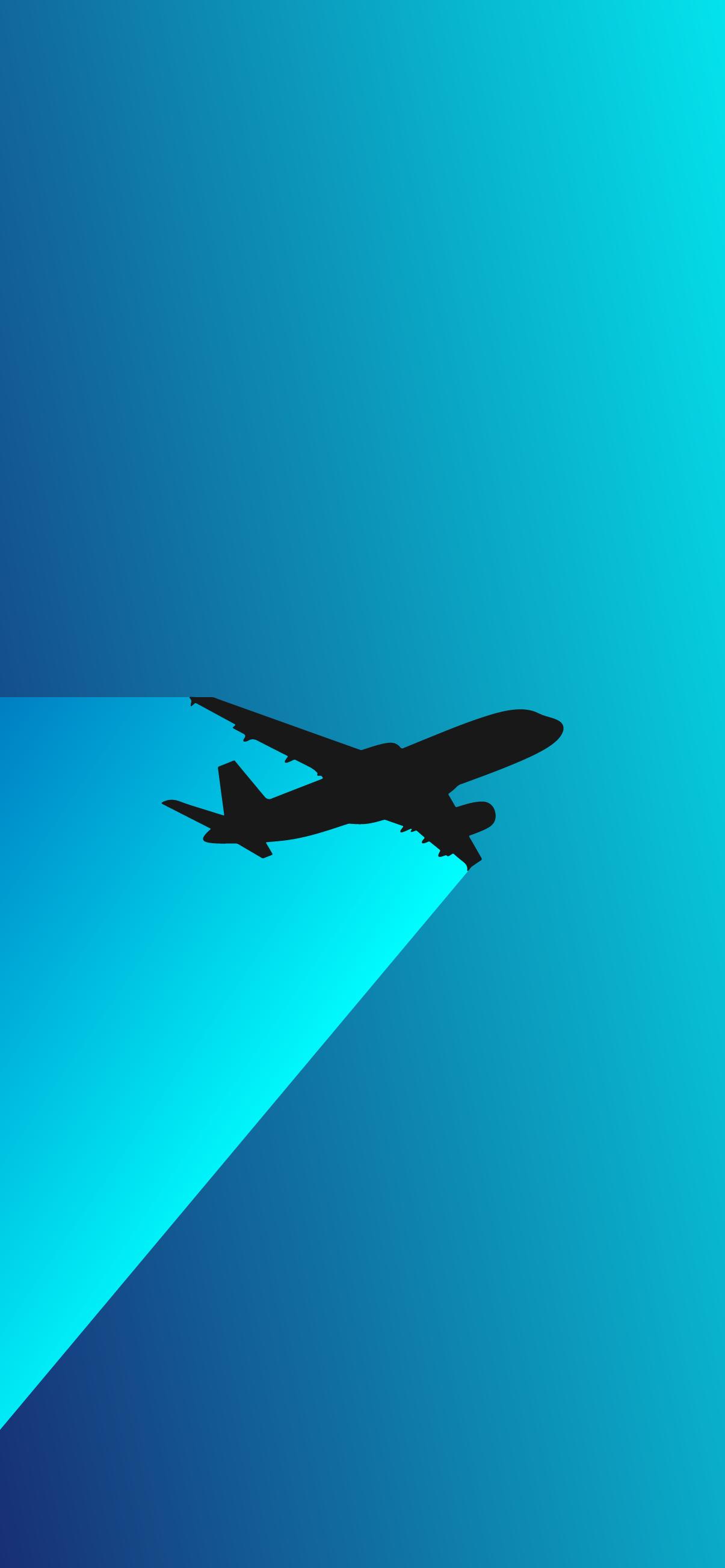 airplane minimalist wallpaper 4k