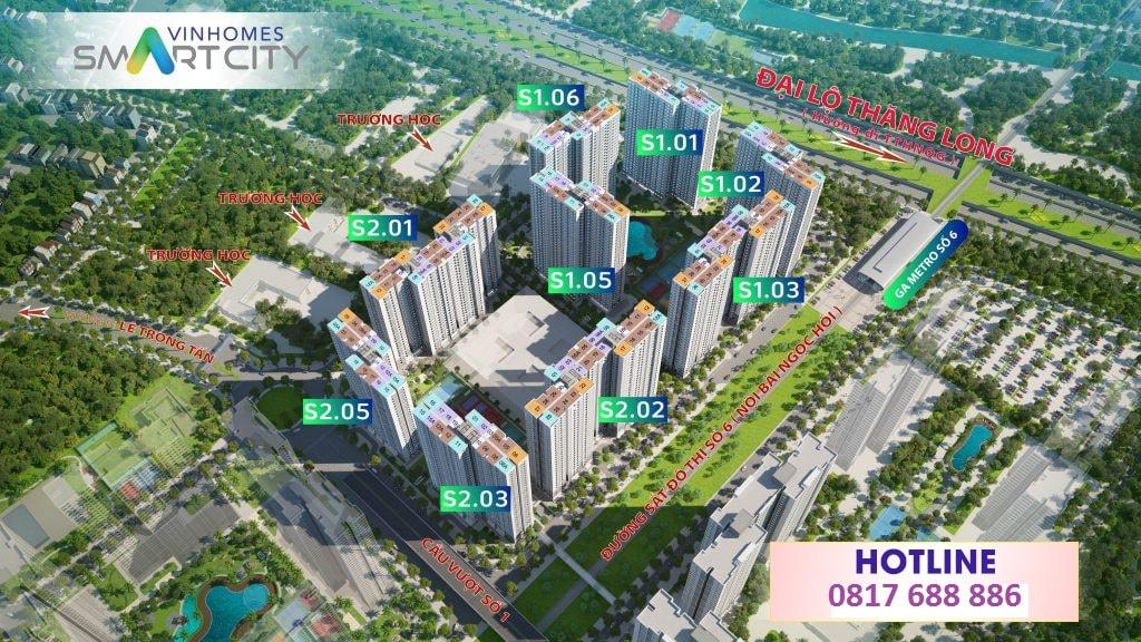 mat bang phan khu vinhomes smart city