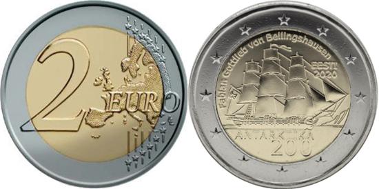 Estonia 2 euro 2020 - 200 years of the Discovery of Antarctica