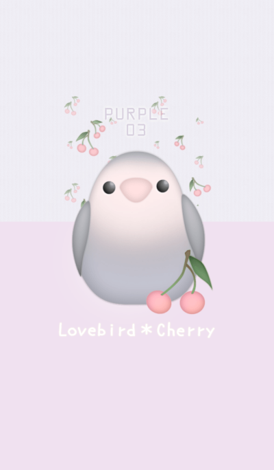 Lovebird&Cherry/Purple03