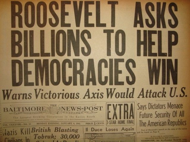 6 January 1941 worldwartwo.filminspector.com Baltimore News-Post Headlines