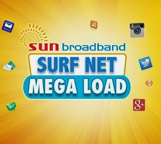 Sun Surf Net Mega 100, 50 and 25 Load Volume Browsing Promo