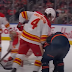 Rasmus Andersson elbows, headbutts Kailer Yamamoto during Flames-Oilers scrum