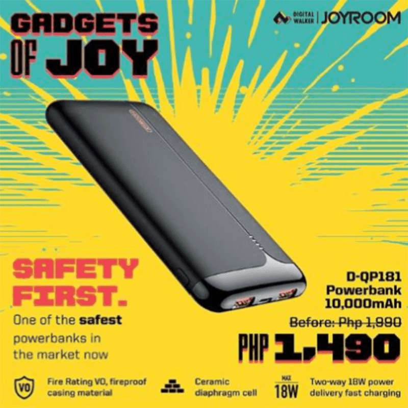 JOYROOM D-QP181 safe power bank and JR-TL1 TWS HiFi budget buds arrives in the Philippines