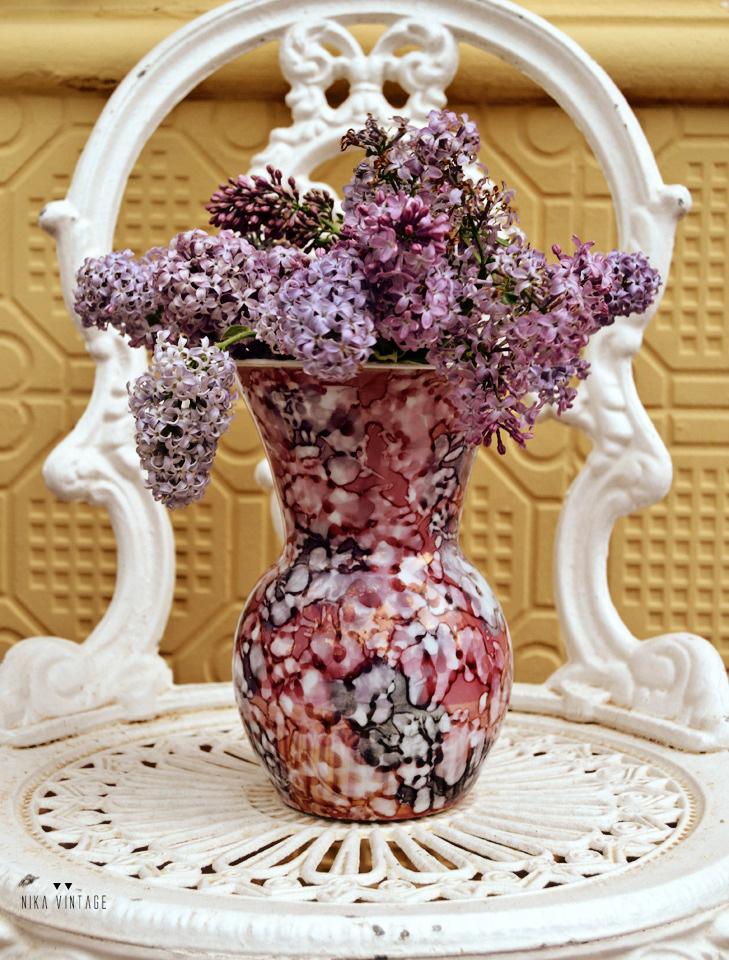 Ideas fáciles, arreglos florales para decorar con lilas
