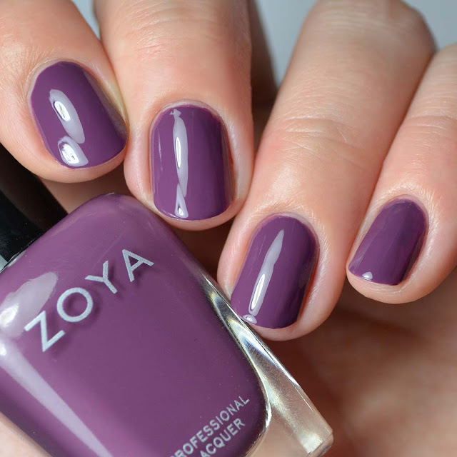 purple taupe creme nail polish