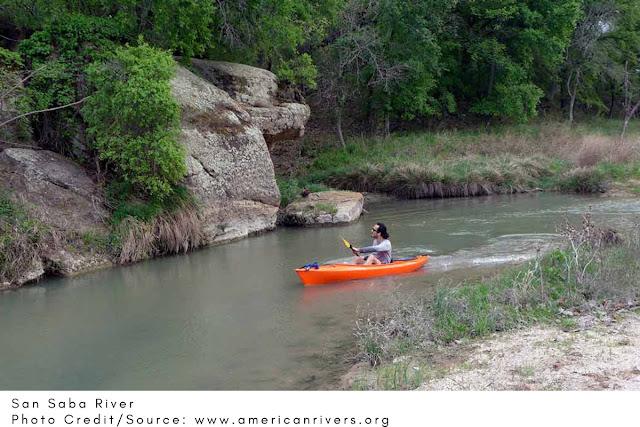 kayaker moving slowly, enjoying the sights