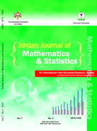 Jordan Journal of Mathematics and Statistics