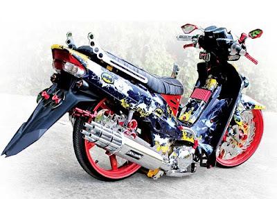 Modifikasi motor ceper bebek