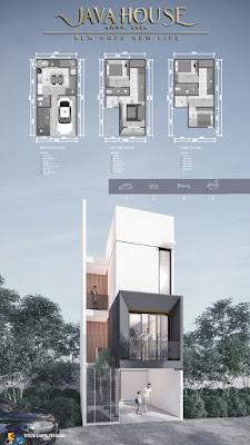 Ilustrasi Rumah mewah MURAH 600 Jutaan dekat Plaza Millenium Kapten Muslim Medan 3 Lantai - Java House Anno 2020