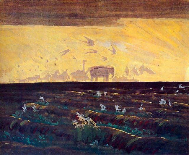 Чюрлёнис Микалоюс Константинас - Поклонение солнцу. 1909