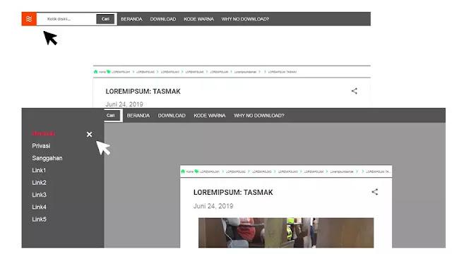 contoh sidenav menu ala editblogtema