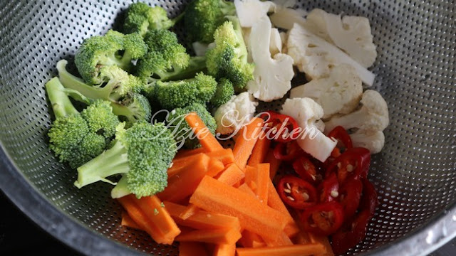 Sayur Campur Dengan Tauhu Jepun