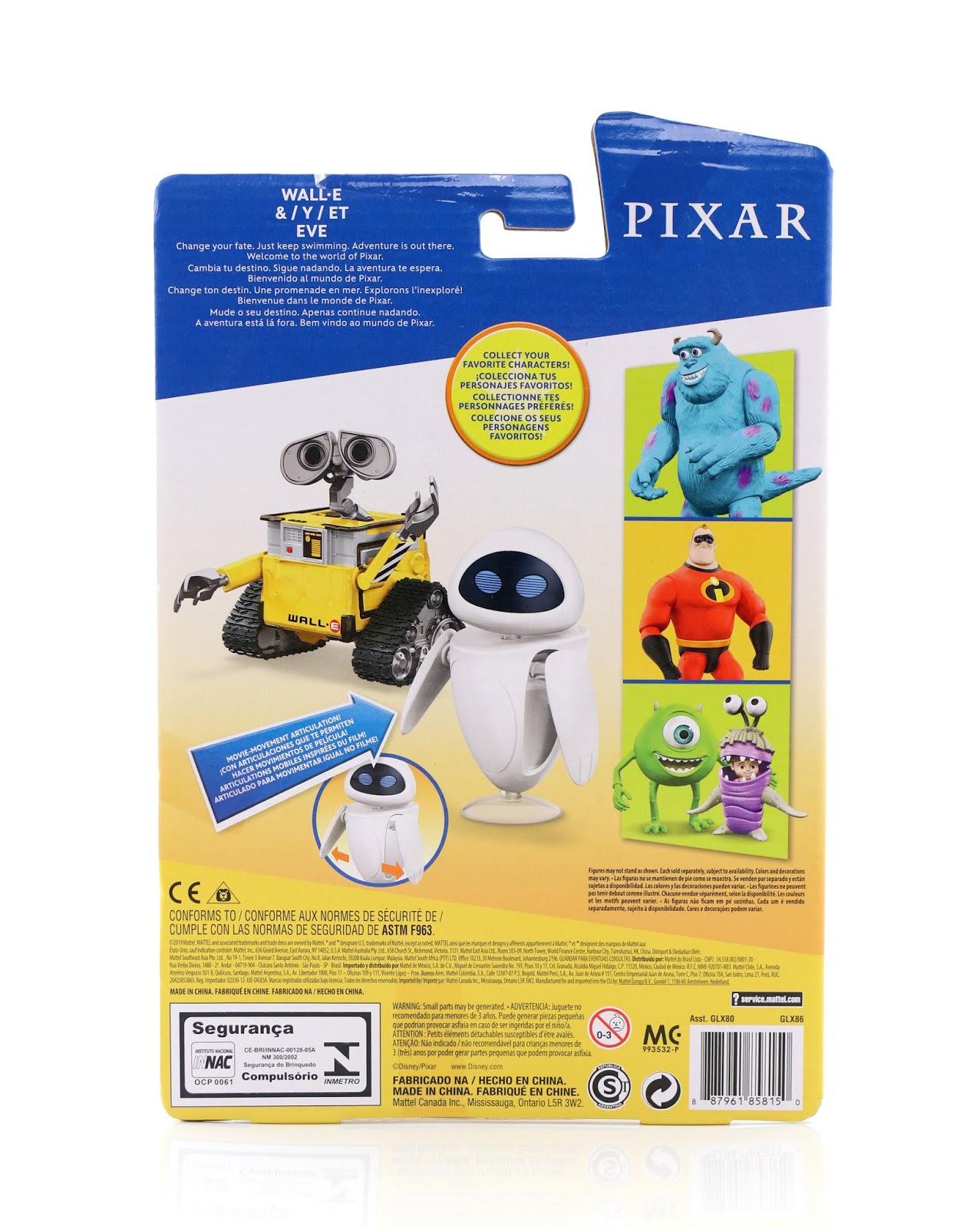mattel pixar action figures wall-e