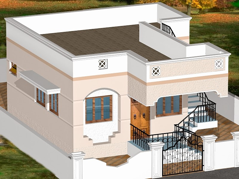 INDIAN HOMES - HOUSE PLANS - HOUSE DESIGNS - 775 SQ. FT ...