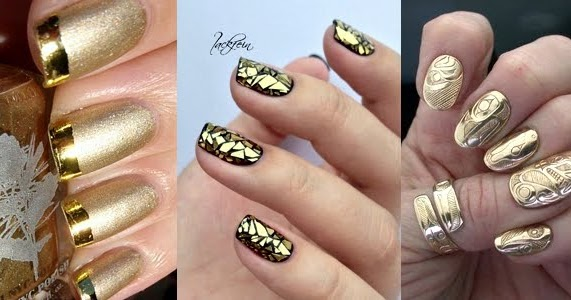 Stunning Golden Nails