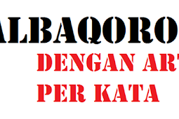 al-Baqoroh Ayat 30-37 dengan terjemahannya