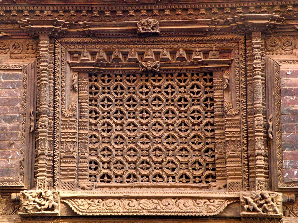 Woodcarving of Nepal, window